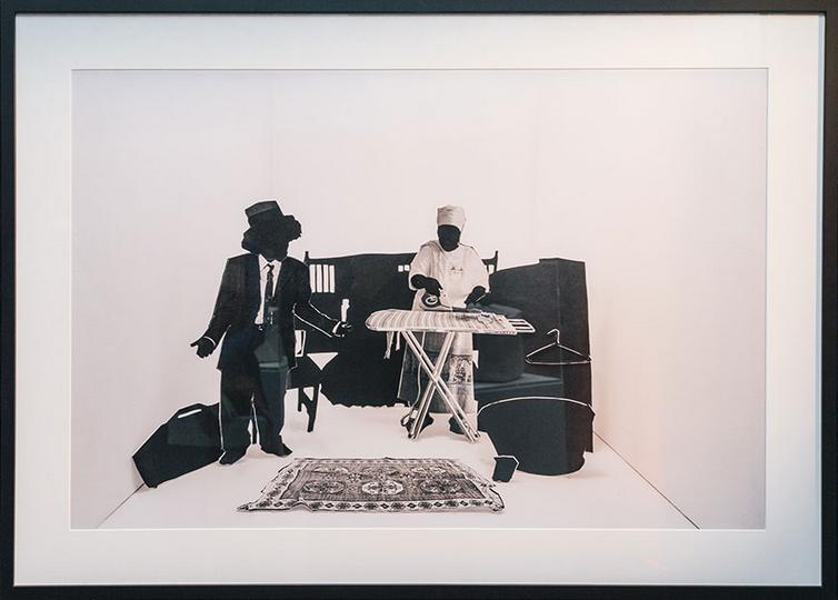 Ke ile ka tswela pele ka ho tereka a ntse a bua , 2016 Inkjet print on cotton rag paper,64 x 90 cm   by   Lebohang Kganye