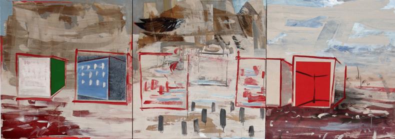 Vacant Lot and Suburban Living , 2010 by David Eddington