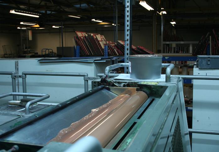 copper on the press