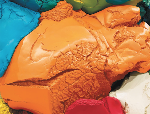 A close up of  Play Doh  by Jeff Koons