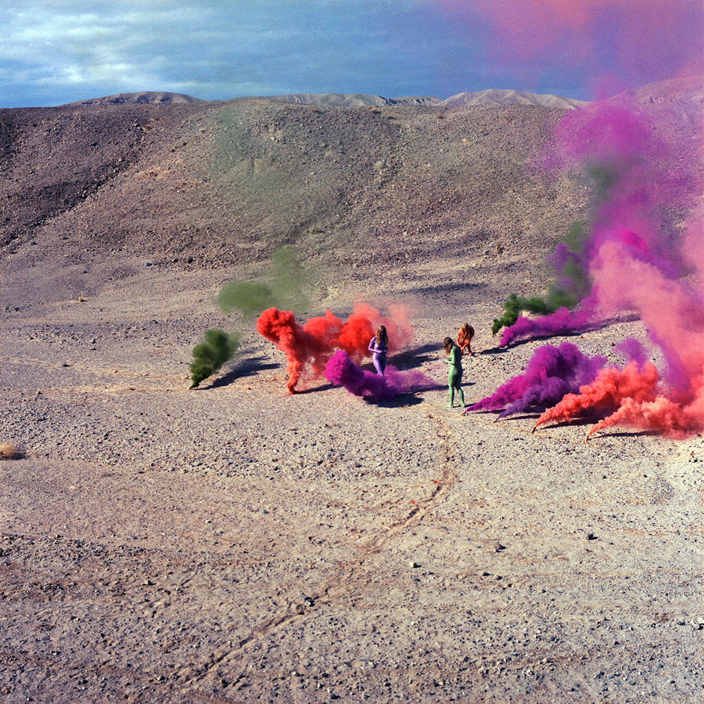 Smoke Bodies, 1972; from Women and Smoke, 2018 by Judy Chicago  Archival pigment print. 36 x 36 in.