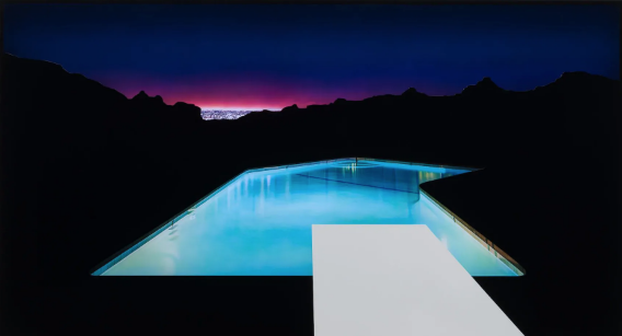 Doug Aitken, Midnight Sun (distant view with pools), 2019