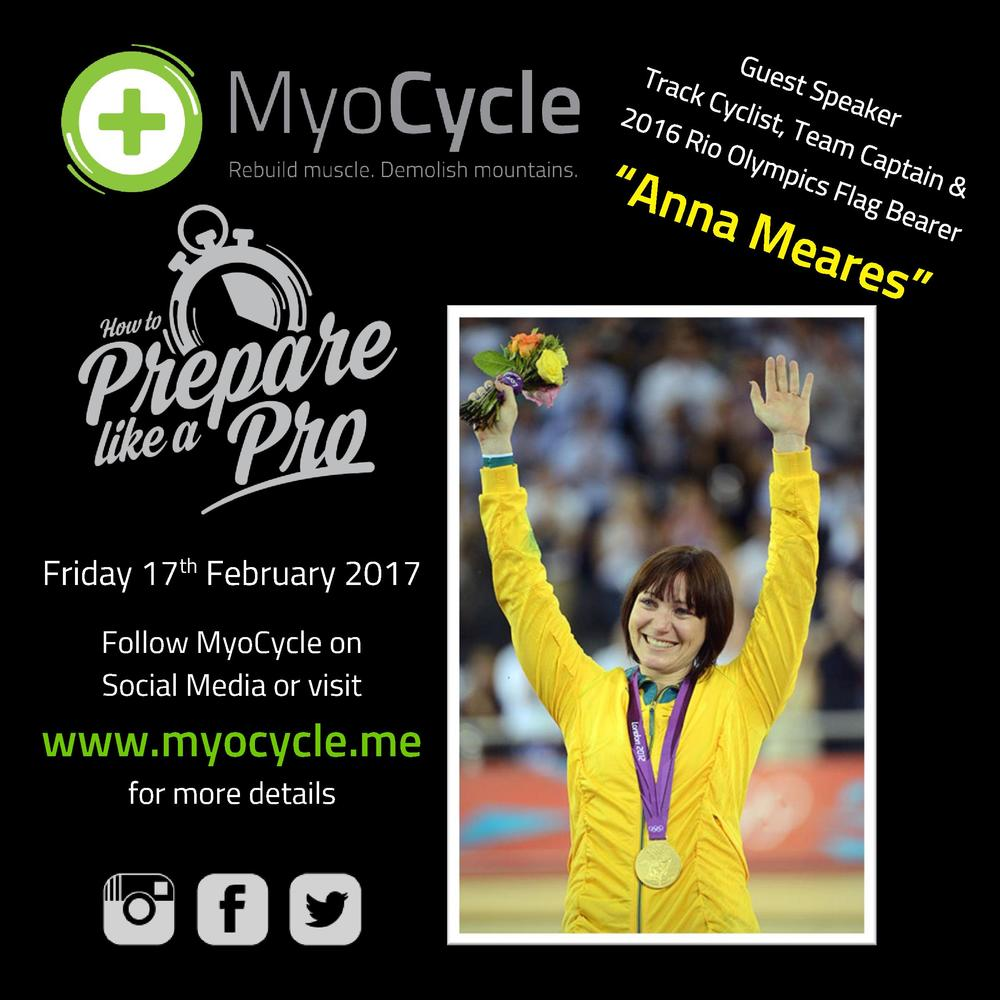 Anna Meares Guest Speaker at Prepare Like a Pro 2017