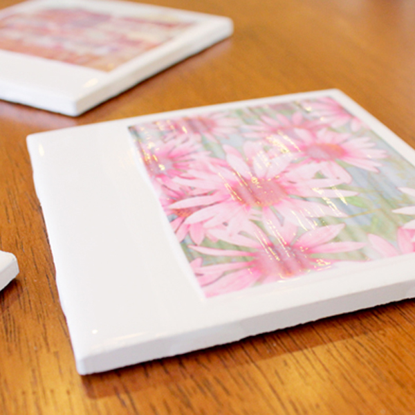DIY Polaroid Photo Coaster