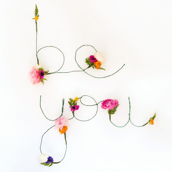 Floral Wire Words