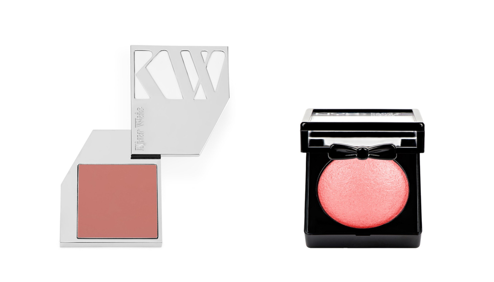 LUKSUS: Kjær Weis Cream Blush Abundance kr 659,-                          BUDSJETT: NYX Baked Blush kr 119,-