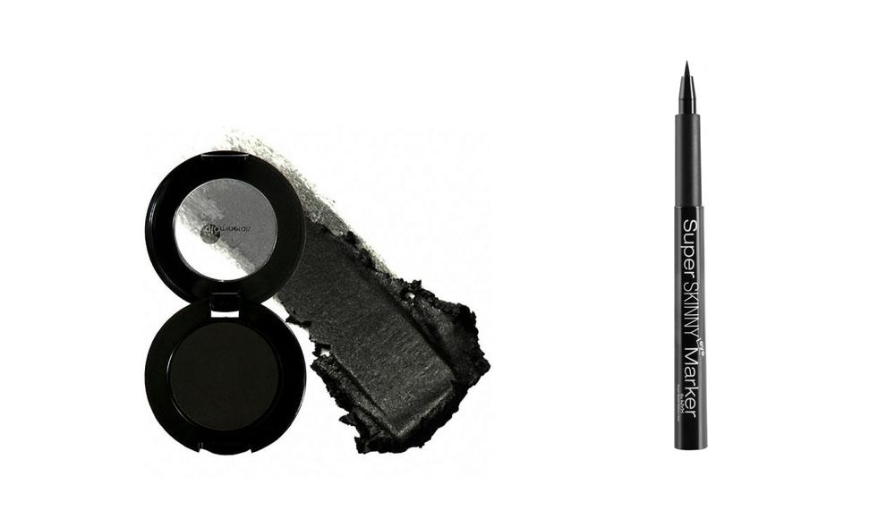 LUKSUS: Glo Minerals Cream Eyeliner kr 255,-                        BUDSJETT: NYX Super Skinny Eye Marker kr 145,-