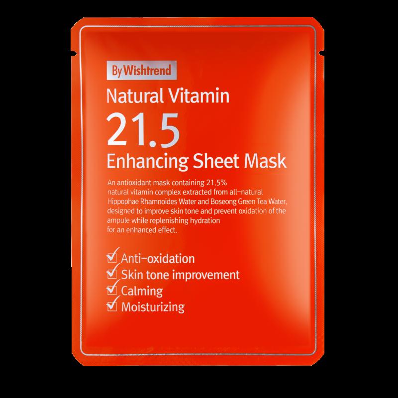 NATURAL VITAMIN 21.5 ENHANCING SHEET MASK KR. 49