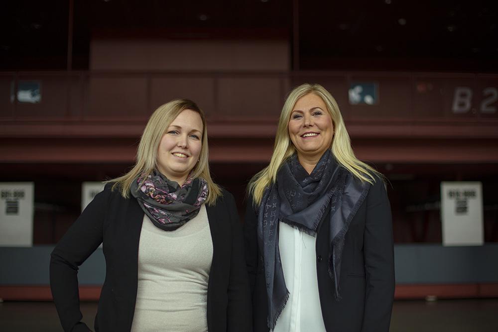 Tiina-Maria Sandelius ja Katja Gustafsson