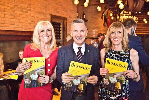 Gary Millar with Lin & Jackie at our 1st Edition launch