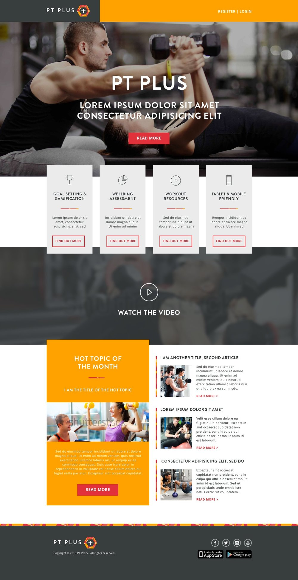 PT PLUS - website theme design
