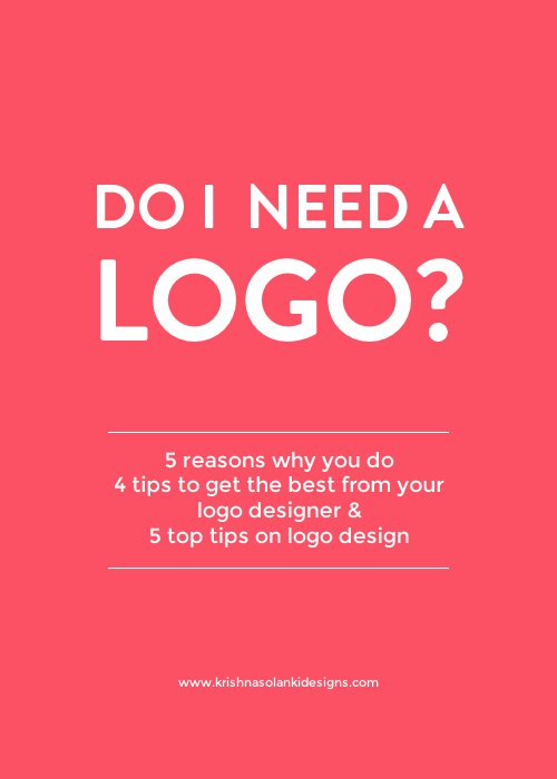 Do I need a logo?