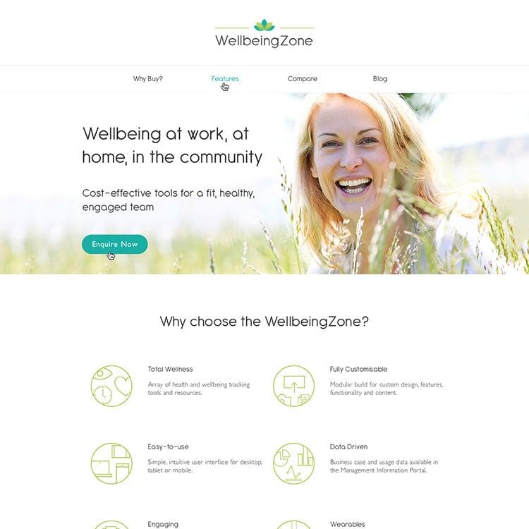 WellbeingZone - Website
