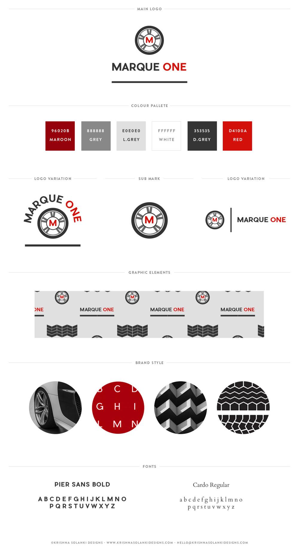 Marque One - brand board