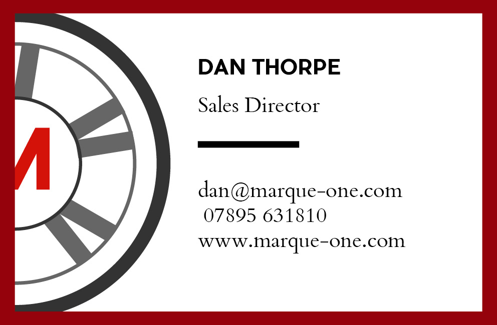 Marque One - Business card (back)