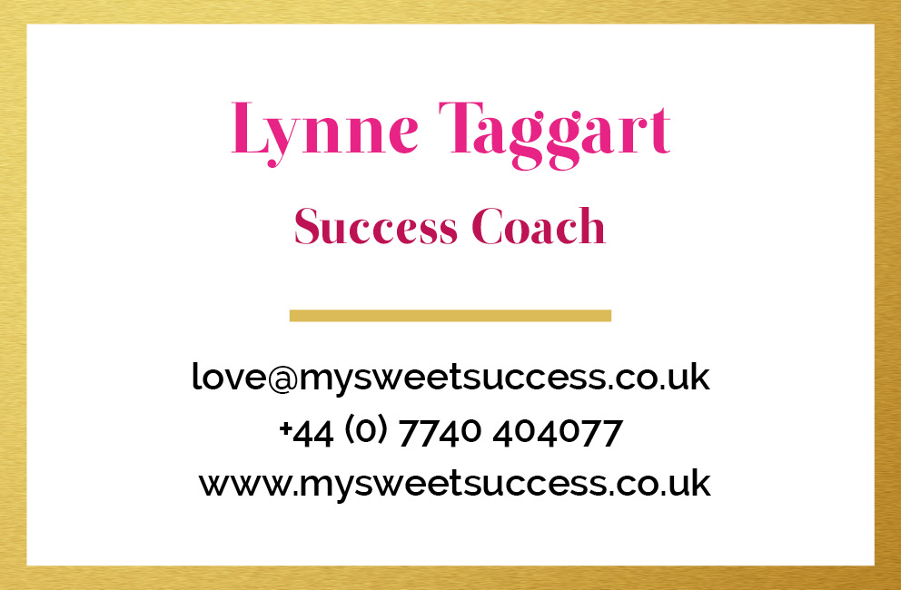 My Sweet Success - Business card (back)