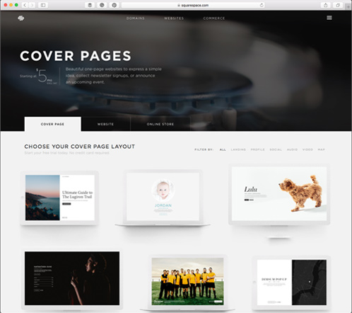 Browser through all the Squarespace templates