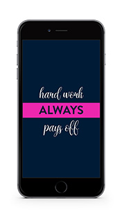 Krishna Solanki Designs - Hard work always pays off (free mobile wallpaper)
