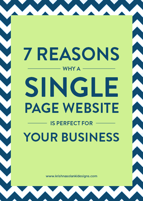 7 Reasons Why A Single Page Website Is Perfect For Your Business