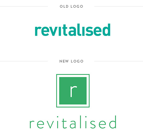 Krishna Solanki Designs - Revitalsed - Final logo design alongside old logo