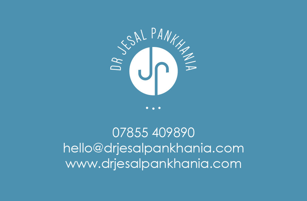 Krishna Solanki Designs - Dr Jesal Pankhania - Business card - front