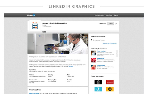 Krishna Solanki Designs - Discovery Analytical Consulting Ltd - LinkedIn graphics