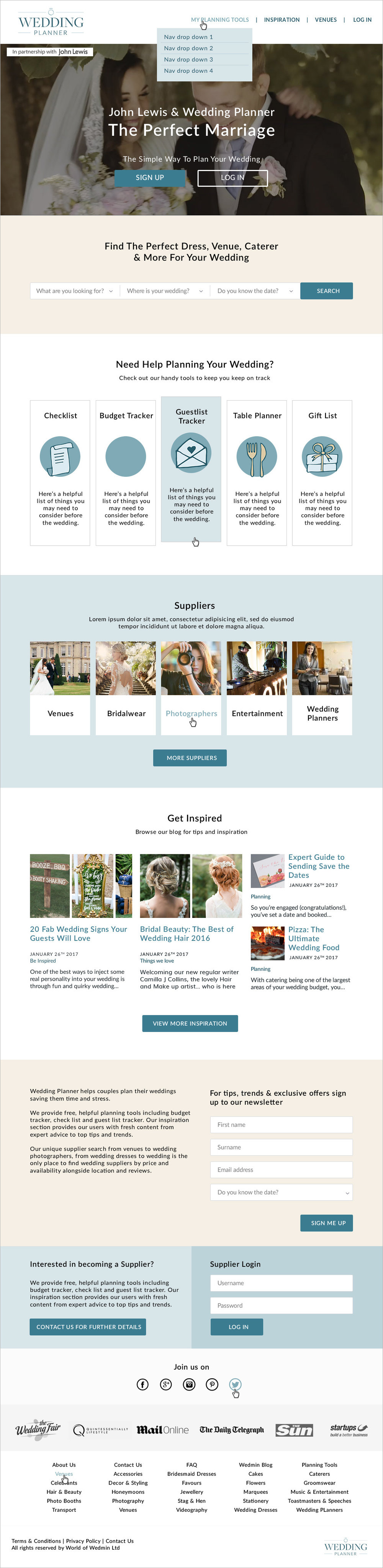 Krishna Solanki Designs - WeddingPlanner Homepage Redesign