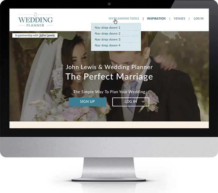 Krishna Solanki Designs - Robin Weil - WeddingPlanner - Homepage Redesign