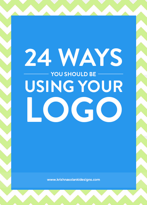 Krishna Solanki Designs - 24 Ways You Should Be Using Your Logo