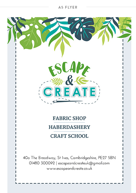 Krishna Solanki Designs - Escape and Create - A5 Flyer.jpg