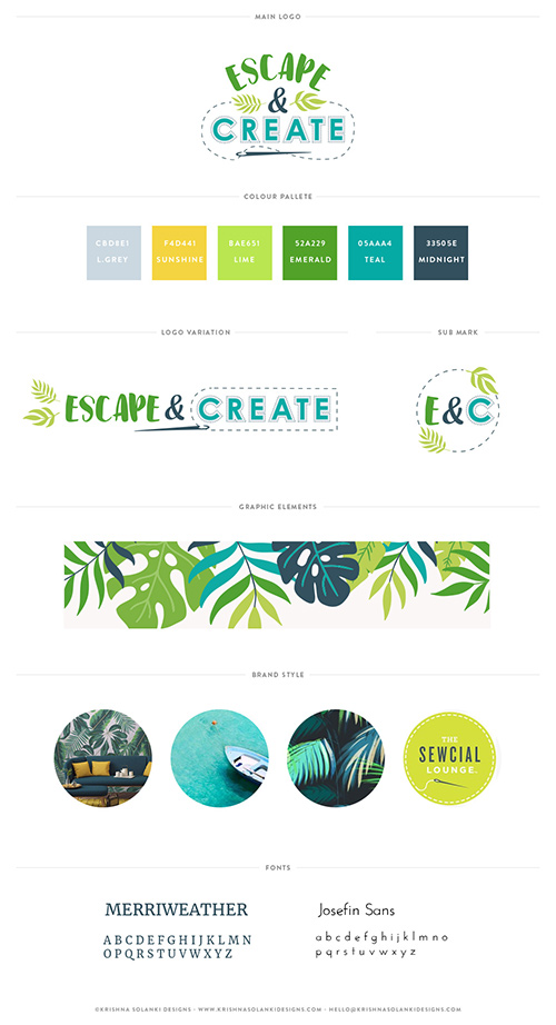 Krishna Solanki Designs - Escape and Create - Brand board.jpg