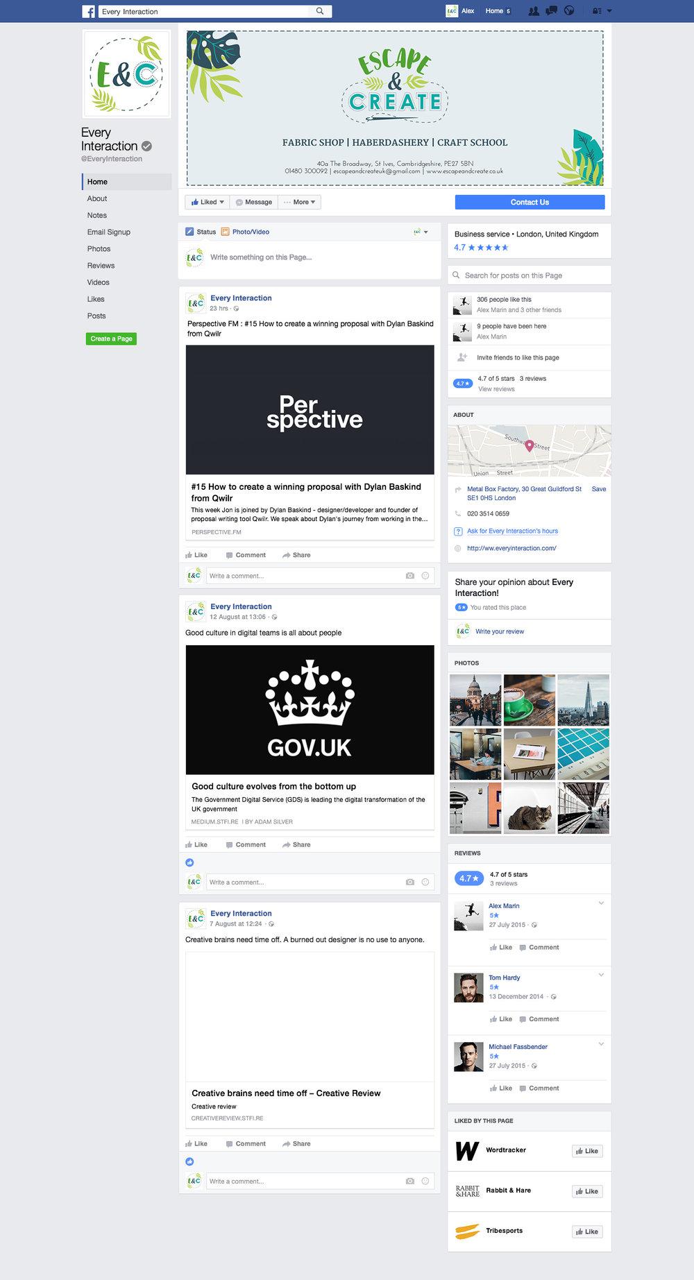 Krishna Solanki Designs - Escape & Create - Facebook graphics