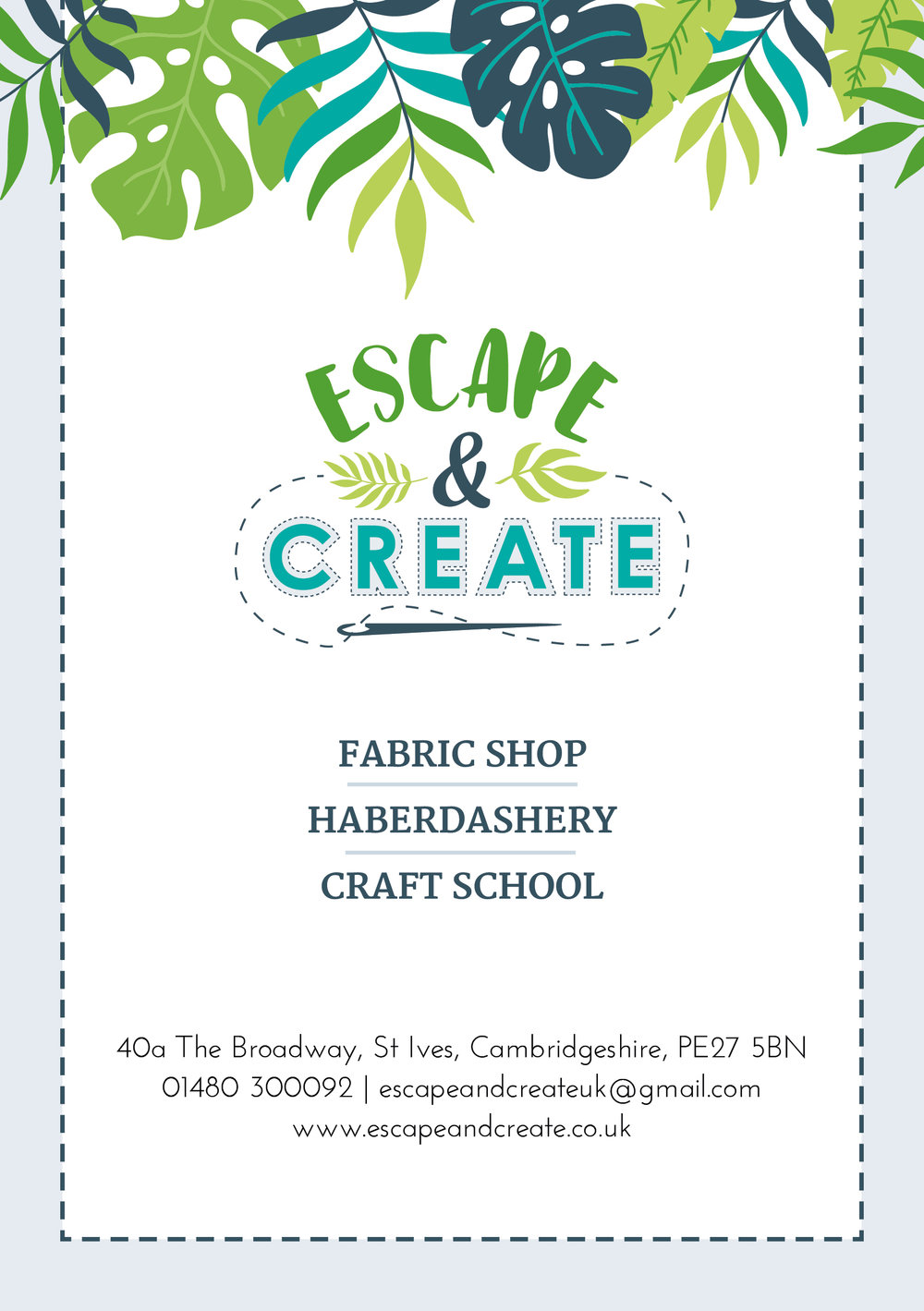 Krishna Solanki Designs - Escape & Create - A5 flyer