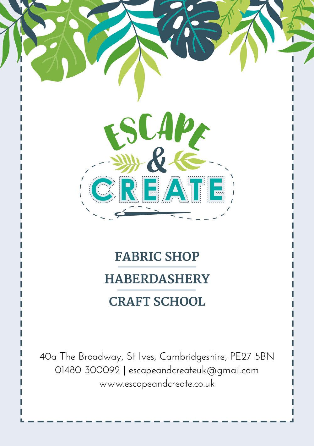 Krishna Solanki Designs - Escape & Create - A5 flyer