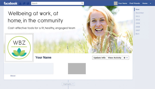 WellbeingZone - Facebook cover and profile image