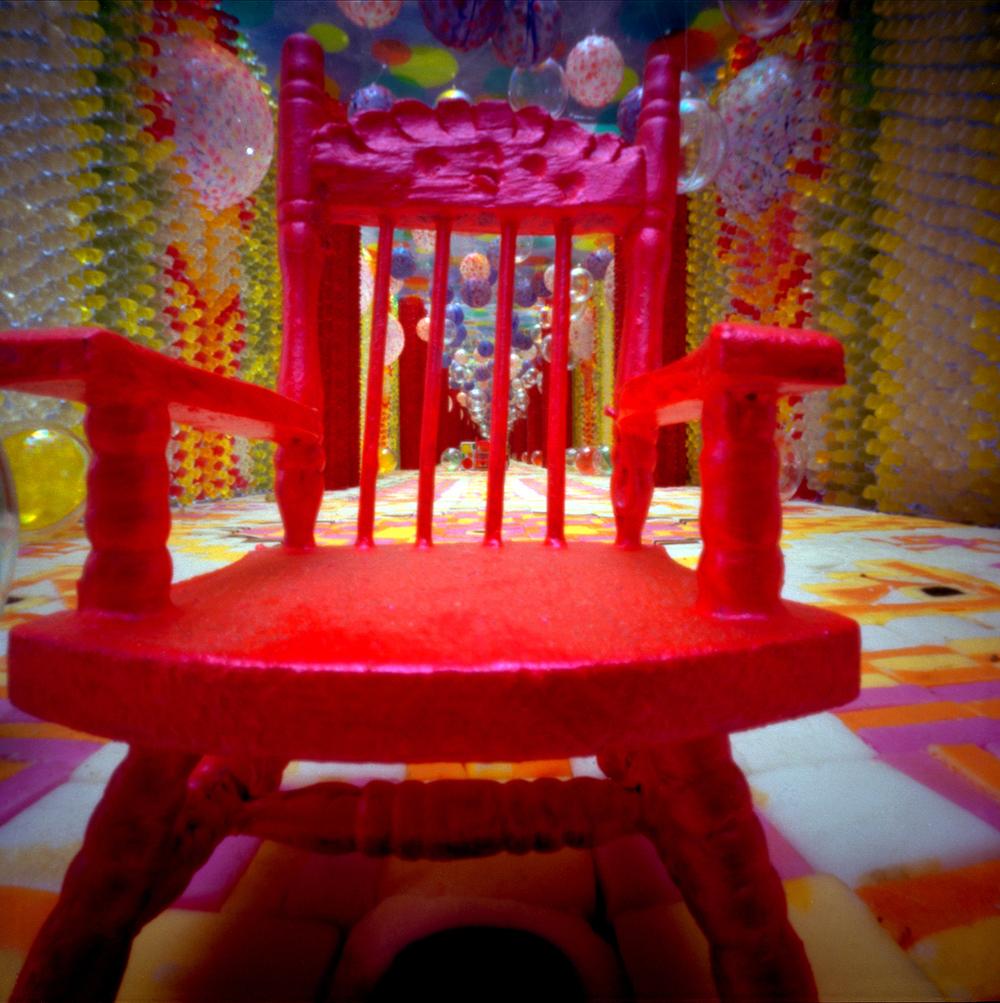 Rooie stoel