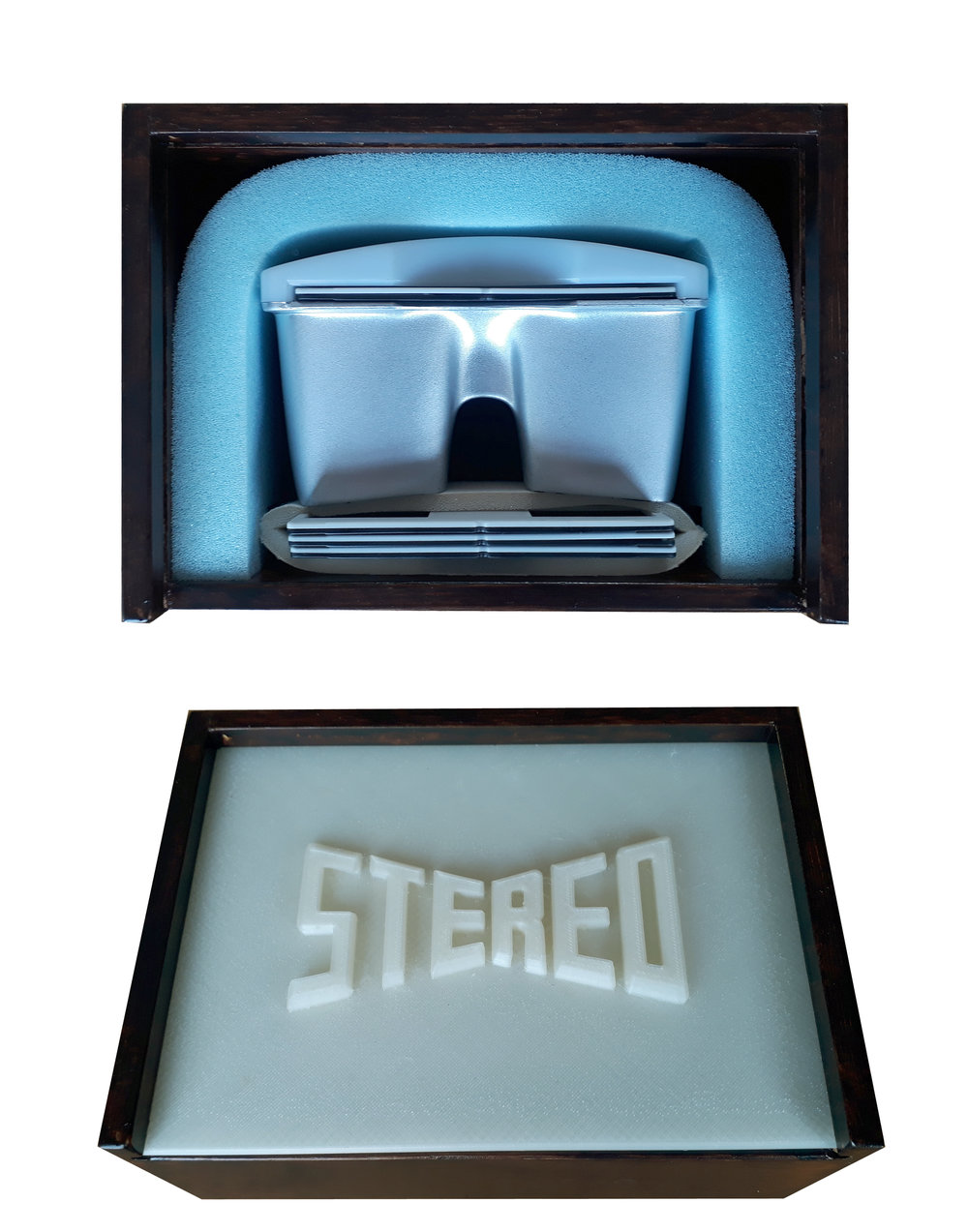 Stereo Box - Stereo viewer with 4 stereo photographs of your choice. Photographs can be chosen from the gallery below. All together in a presentation box with a 3D printed lid.€250/ $300 (excl. shipping costs)