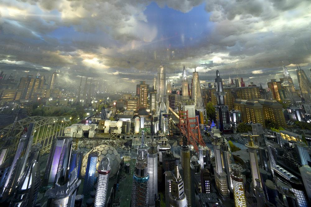 Led City Skyline