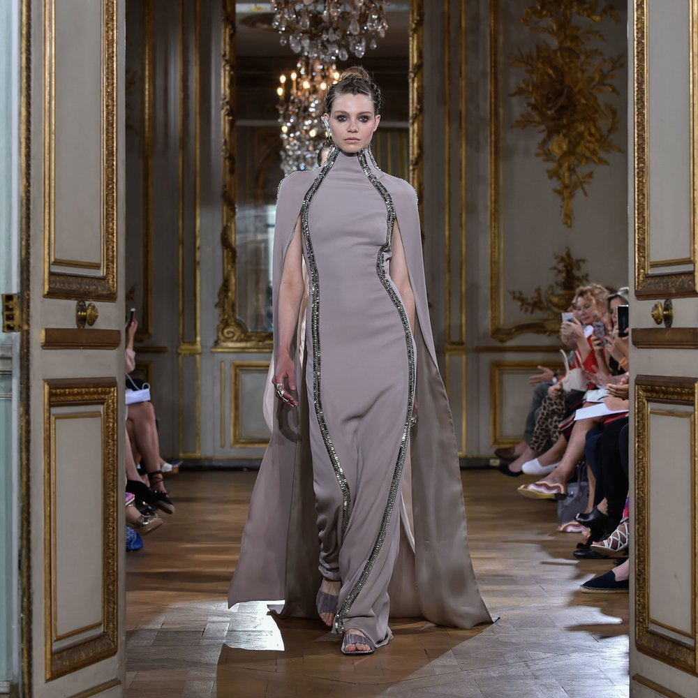 Antonio Grimaldi Haute CoutureAutumn/Winter'17 at Mona Bismarck