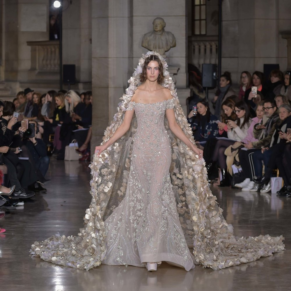George Hobeika Haute Couture Spring Summer'17 at Faculté de médecine Paris Descartes
