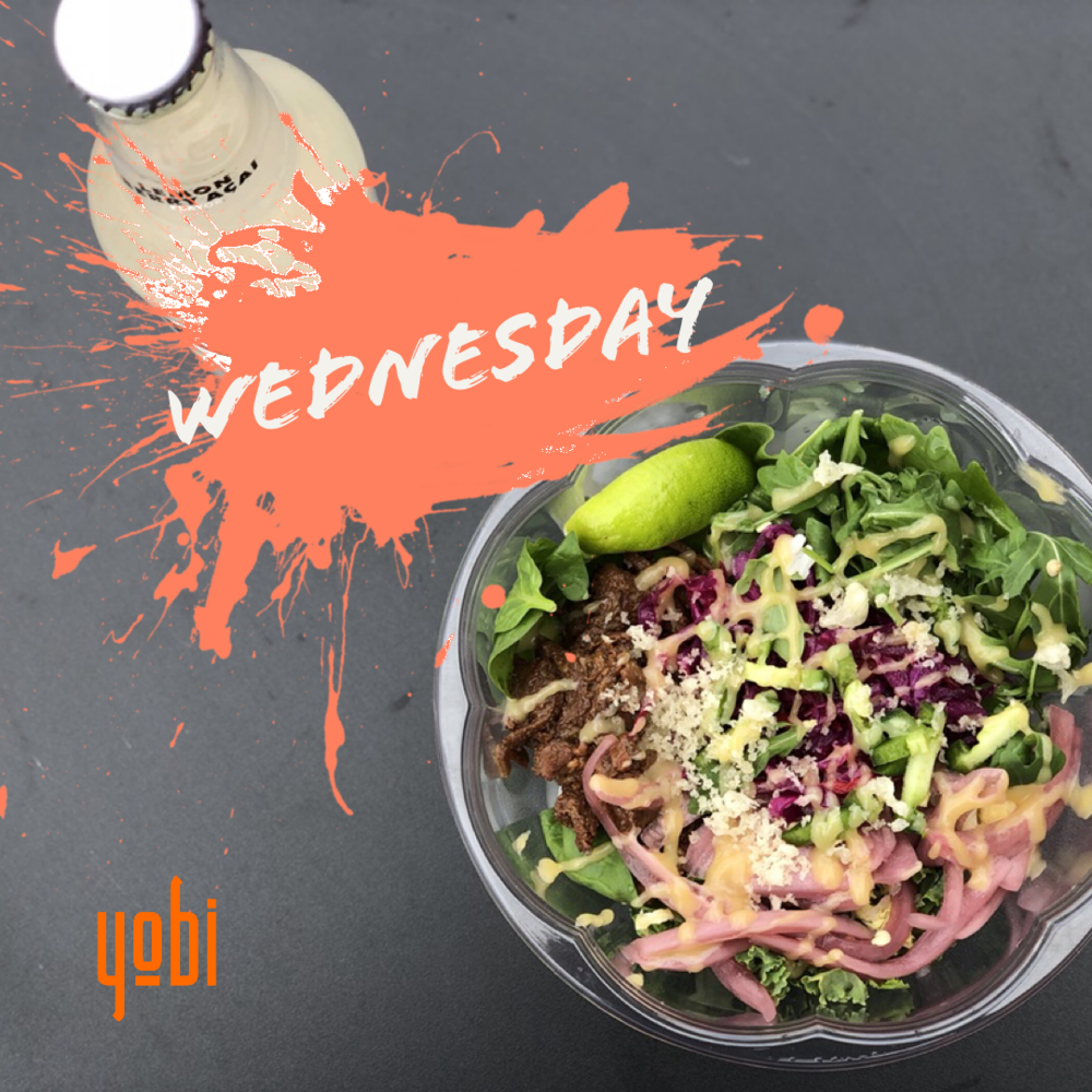 Treat yourself to a - 'Create Your Own' regular Poké style Bowl, Roll or Rito and a bottle drink for only $10