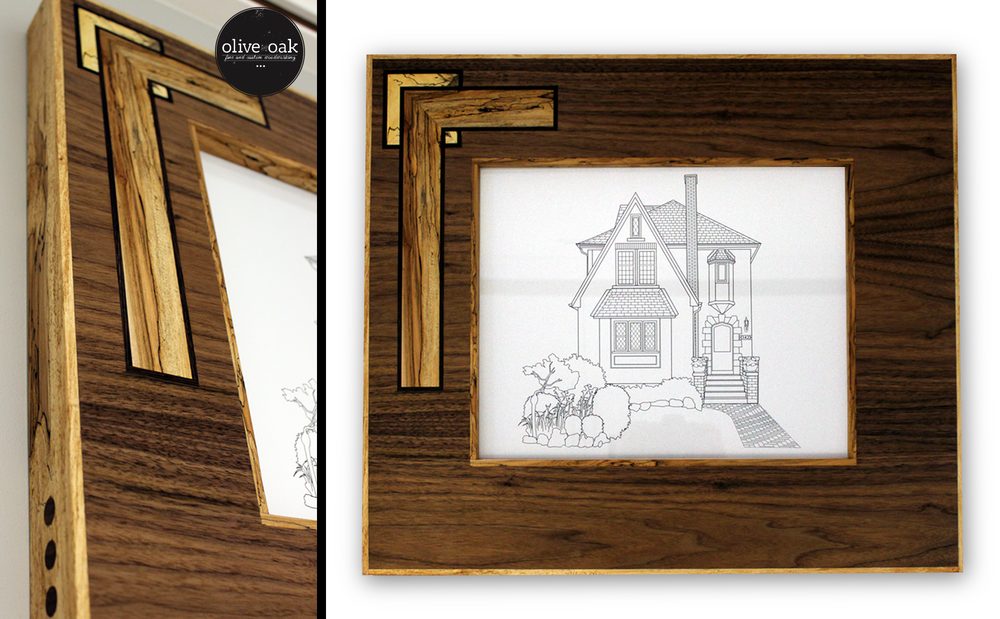 A collaboration between Stomp Designs and the multi-talented Olive and Oak. To order your custom home illustration, please go to the  contact page . To see more woodwork by Olive and Oak, check out  oliveandoak.ca