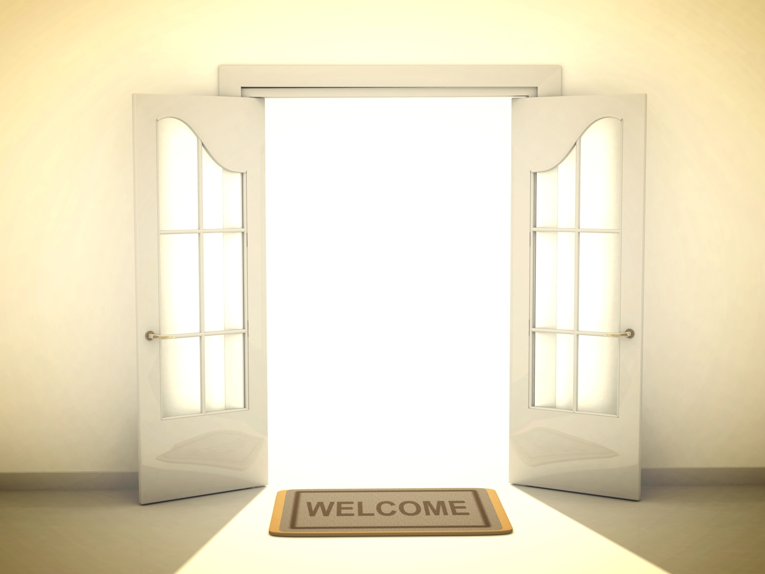 Image result for welcome door