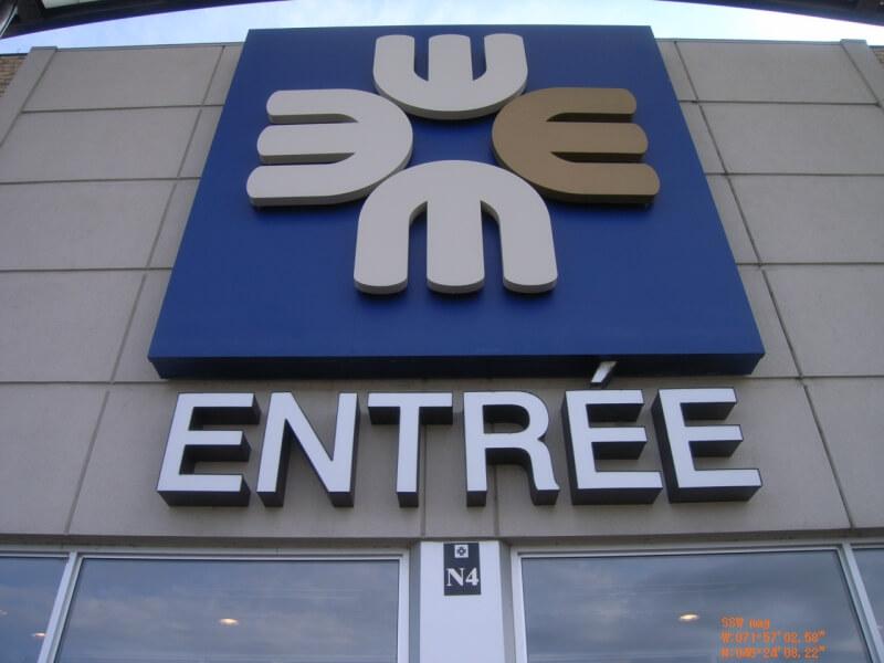 Affiche extérieuresécurité incendie Carrefour de l'Estrie