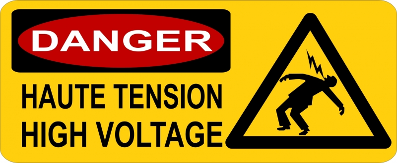 "Pictogramme ""Danger Haute Tension"""