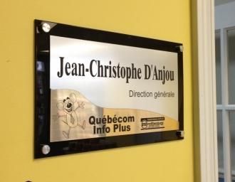 Plaque du Directeur Général, Jean-Christophe d'Anjou