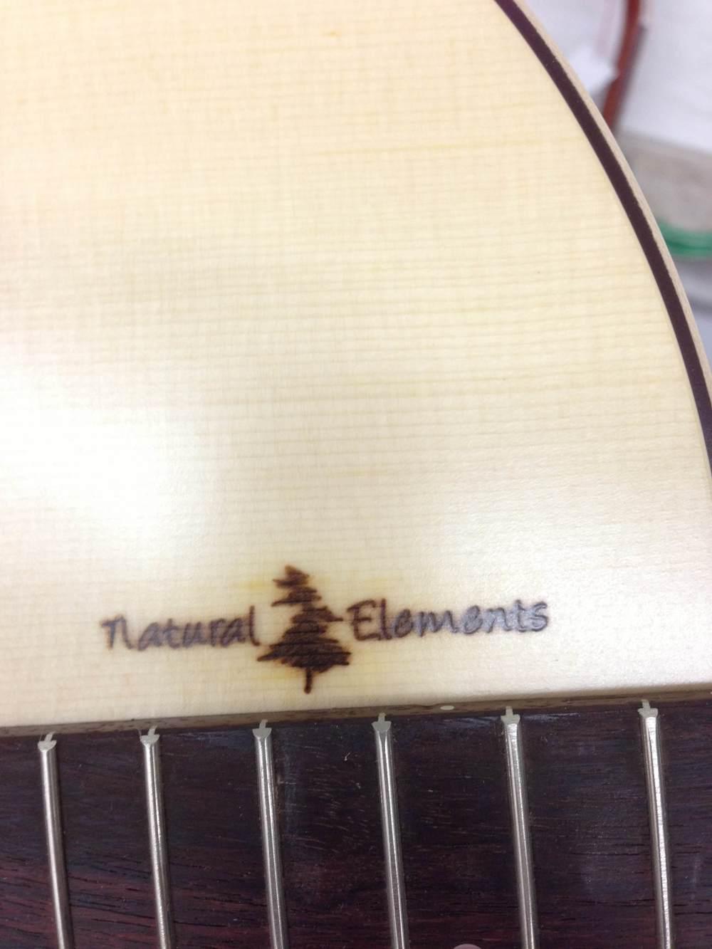 Guitare gravée au laser