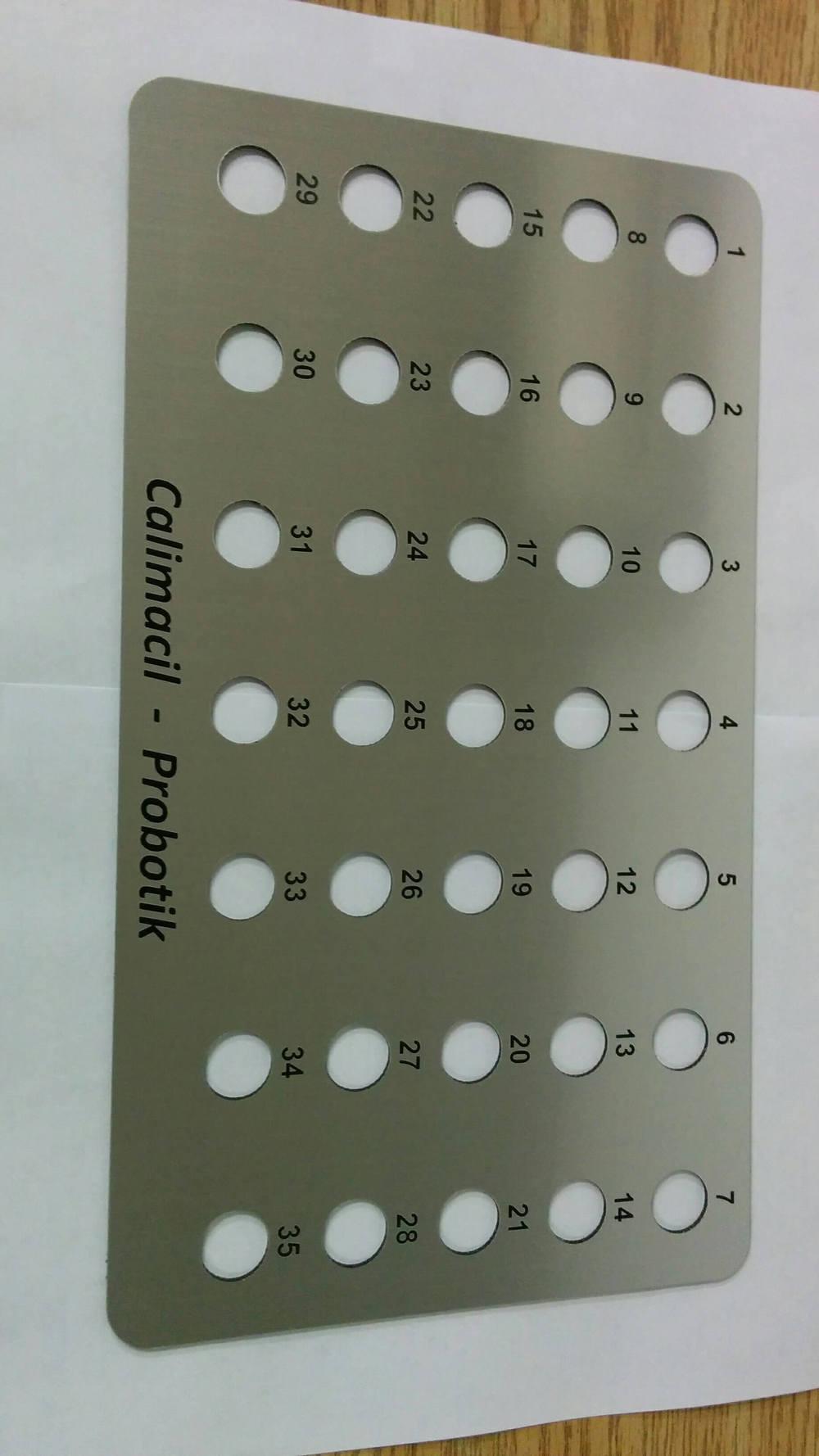 Panneau de contrôle marqué au laser