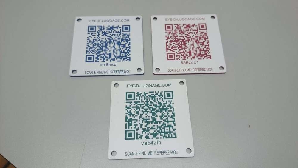 Codes QR gravés sur plastique