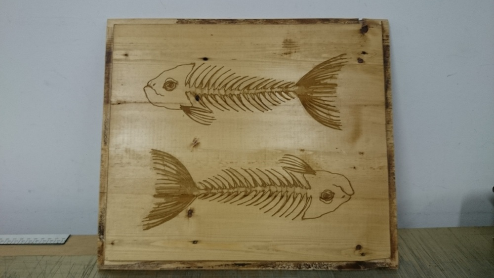 Ornemental wooden plaque